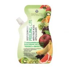 Skinlite, Отшелушивающий гель-пилинг с фруктовыми кислотами «Яблоко и виноград», 50 г