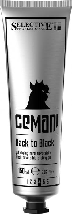 SELECTIVE PROFESSIONAL Гель со смываемым черным пигментом для укладки волос, для мужчин / CEMANI Back to black 150 мл