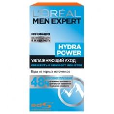 L`OREAL Крем-уход Увлажнение Me Hydra Power Men Expert 50 мл L`OREAL PARIS