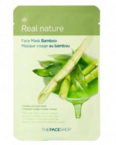 Маска с экстрактом бамбука THE FACE SHOP Real nature mask sheet bamboo 20г.