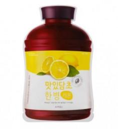 Тканевая маска с экстрактом лимона A'PIEU Fruit Vinegar Sheet Mask Lemon