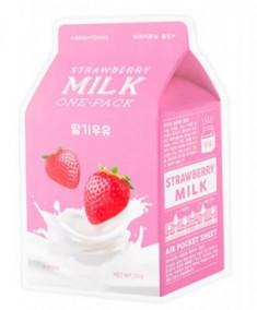 Тканевая маска молочная с клубникой A'PIEU Strawberry Milk One-Pack