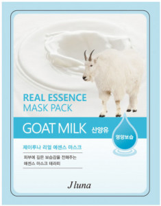 Тканевая маска с козьим молоком Juno JLuna Real Essence Mask Pack Goat Milk 25мл