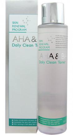 MIZON Тоник увлажняющий с AHA и BHA кислотами для лица / AHA & BHA DAILY CLEAN TONER 150 мл