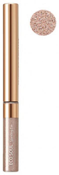 Тени для глаз сияющие THE SAEM Eco Soul Sparkling Eye PK01 Champagne Bar 2,7гр