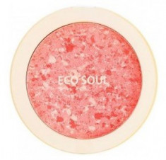 Румяна компактные THE SAEM Eco Soul Carnival blush 02 Coral 9,5г