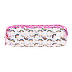 Косметичка-пенал LADY PINK розовая с принтом
