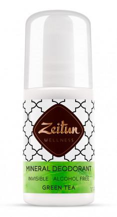 ZEITUN Дезодорант минеральный шариковый Зеленый чай 50 мл