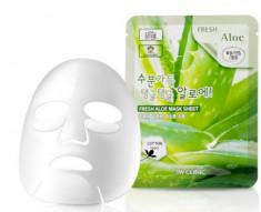 Тканевая маска для лица с экстрактом алоэ 3W CLINIC Fresh Aloe Mask Sheet