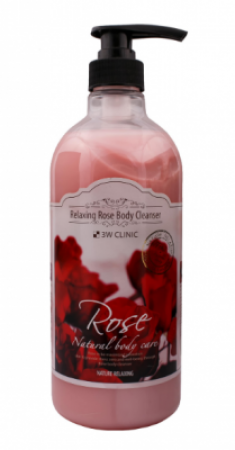 Гель для душа релакс РОЗА 3W CLINIC Relaxing Body Cleanser 1000 мл