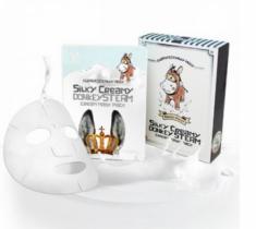 Маска с паровым кремом из молока ослиц ELIZAVECCA Silky Creamy Donkey Steam Cream Mask Pack 10шт