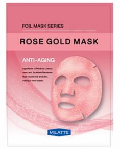 Маска тканевая антивозрастная MILATTE ROSE GOLD MASK ANTI-AGING 23г
