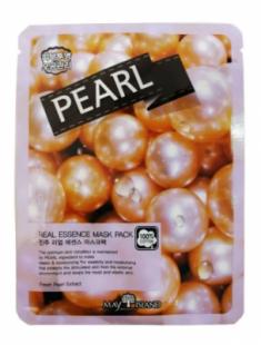 Маска тканевая с жемчугом May Island Real Essence Pearl Mask Pack 25мл