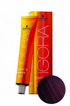 Крем-краска Schwarzkopf professional Igora Vibrance 5-99 светлый коричневый фиолетовый экстра 60мл