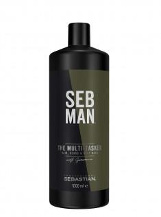 SEB MAN Шампунь для ухода за волосами, бородой и телом 3 в 1 / THE MULTITASKER 1000 мл