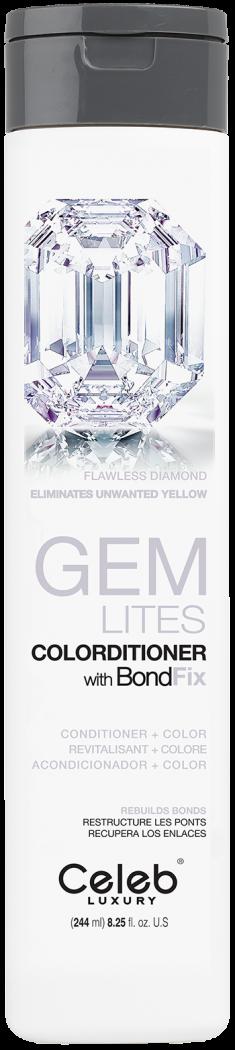 CELEB LUXURY Кондиционер тонирующий корректирующий цвет, бриллиант / Gem Lites Flawless Diamond Colorditioner 244 мл