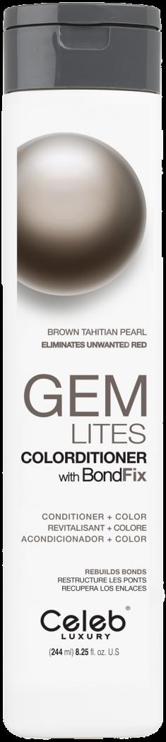 CELEB LUXURY Кондиционер тонирующий корректирующий цвет, коричневая жемчужина Таити / Gem Lites Tahitian Pearl Colorditioner 244 мл