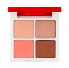 Палетка теней Holika Holika Peko Jjang Piece Matching 4 Colors Shadow Palette 01 клубничная карамель 6г