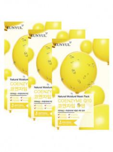 Набор тканевых масок с коэнзимом Q10 EUNYUL NATURAL MOISTURE MASK PACK COENZYM 22мл*3