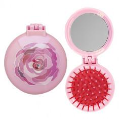 Расческа для волос с зеркалом LADY PINK