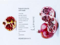 Тканевая маска с гранатом L'arvore Nature Source Cell Mask Pomegranate 25 г