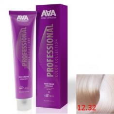 Крем-краска для волос стойкая Kaaral ААА Hair Cream Colorant 12.32 экстра светлый золотисто-фиолетовый блондин 100 мл