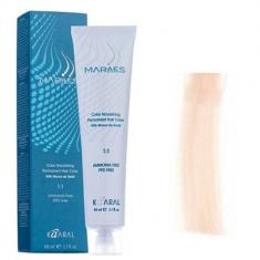 Крем-краситель стойкий без аммиака Kaaral Maraes Nourishing Permanent Hair Color 11.2 очень светлый блондин сверхосветвляющий радужный 60 мл