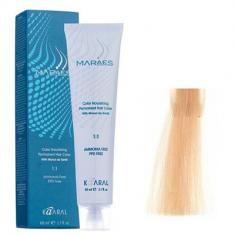 Крем-краситель стойкий без аммиака Kaaral Maraes Nourishing Permanent Hair Color 10.3 платиновый золотистый блондин 60 мл