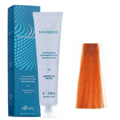 Крем-краситель стойкий без аммиака Kaaral Maraes Nourishing Permanent Hair Color 7.44 белокурый медный насыщенный 60 мл