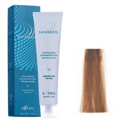 Крем-краситель стойкий без аммиака Kaaral Maraes Nourishing Permanent Hair Color 7.3 золотистый блондин 60 мл