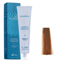 Крем-краситель стойкий без аммиака Kaaral Maraes Nourishing Permanent Hair Color 5.43 светлый золотистый медный каштан 60 мл