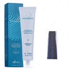 Крем-краситель стойкий без аммиака Kaaral Maraes Nourishing Permanent Hair Color B синий зимний 60 мл