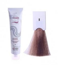 Крем-краситель полуперманентный безаммиачный Kaaral Baco Soft Color 8 светлый блондин 60 мл