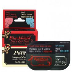 дуэт разогревающей и оригинальной масок для очищения пор caolion premium hot & cool pore pack duo (deluxe)