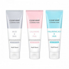 пенка для умывания medi flower clear whip cleansing foam