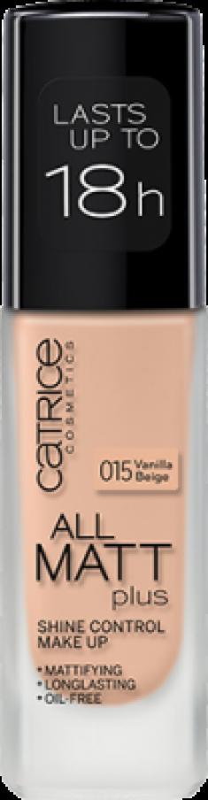 Основа тональная CATRICE All Matt Plus Shine Control Make Up 015 Vanilla Beige ванильно-бежевый
